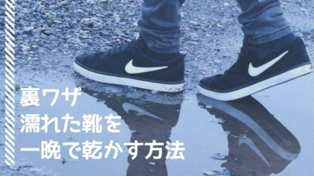 濡れた靴を一晩で乾かす方法